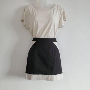 Black & Tan Mini Skirt - US 9